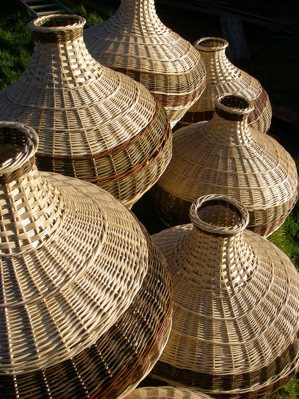 woven basket lampshades